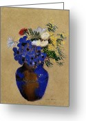 Redon Greeting Cards - Redon: Vase Of Flowers Greeting Card by Granger