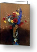 Redon Greeting Cards - REDON: WILD FLOWERS, c1912 Greeting Card by Granger