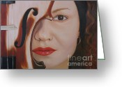 Hyper-realism Greeting Cards - Reds Viola Greeting Card by Dr B Lynn Tillman
