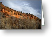 Redstone Greeting Cards - Redstone Cliff Greeting Card by Julie Magers Soulen