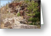 Redstone Greeting Cards - Redstone Granite Quarry - Conway New Hampshire Greeting Card by Erin Paul Donovan