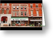 Kingston Greeting Cards - Reed Brick Greeting Card by Valentino Visentini