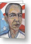 President Obama Greeting Cards - Reelecting Obama in 2012 Greeting Card by Derrick Hayes