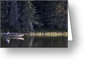 Cypress Hills Provincial Park Greeting Cards - Reesor Lake Cypress Hills Fishing Greeting Card by Mark Duffy