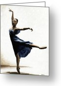 Ballet Art Greeting Cards - Refined Grace Greeting Card by Richard Young