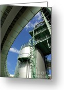 Supply Greeting Cards - Refinery Detail Greeting Card by Carlos Caetano
