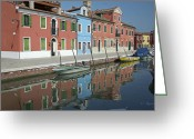 Horizontally Greeting Cards - Reflected Greeting Card by Cheri Randolph