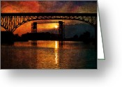 Cuyahoga Greeting Cards - Reflecting At Days End Greeting Card by Dale Kincaid