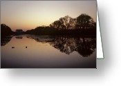 Lincoln Memorial Photo Greeting Cards - Reflecting Pool And Lincoln Memorial Greeting Card by Kenneth Garrett