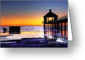 Unique Image Greeting Cards - Reflecting the Night Greeting Card by Pixel Perfect by Michael Moore