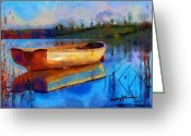 Mooring Greeting Cards - Reflection Greeting Card by Anthony Caruso