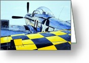 Plane Drawings Greeting Cards - Reflection Greeting Card by Charles Taylor