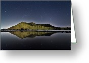 Star Greeting Cards - Reflection In Lake Greeting Card by Ser-y-star