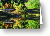 Fall Photographs Greeting Cards - Reflection Greeting Card by Louie Rochon
