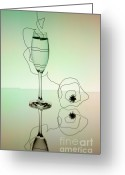 Black Tie Greeting Cards - Reflection Greeting Card by Nailia Schwarz