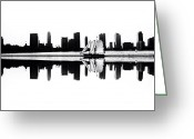 Blackandwhite Greeting Cards - Reflection Greeting Card by Natasha Marco