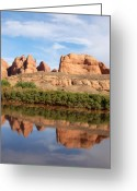 Sky Jewelry Greeting Cards - Reflection Greeting Card by Nena Trapp