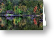 Baxter Park Greeting Cards - Reflection of Solitude Greeting Card by Lori Deiter