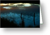 Mario Brenes Simon Greeting Cards - Reflection of the sky in a pond Greeting Card by Mario Brenes Simon