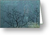 Somber Greeting Cards - Reflection on a Car Windshield 2 Greeting Card by Sarah Loft