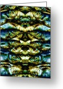  Tribal Prints Greeting Cards - Reflections 2 Greeting Card by Skip Nall