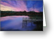 Woods Pastels Greeting Cards - Reflections Greeting Card by Cathy Weaver