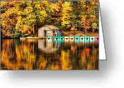 Shimmer Greeting Cards - Reflections Greeting Card by Darren Fisher