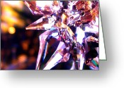 Star Glass Art Greeting Cards - Reflections Greeting Card by Elisa Hill