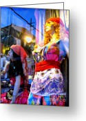 Store Fronts Greeting Cards - Reflections in the Life of a Mannequin Greeting Card by Colleen Kammerer