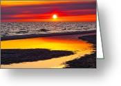 Florida Sunset Greeting Cards - Reflections Greeting Card by Janet Fikar