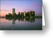 Twin Towers World Trade Center Greeting Cards - Reflections Greeting Card by Joann Vitali