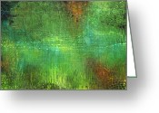 Pond Painting Greeting Cards - Reflections Greeting Card by Lolita Bronzini