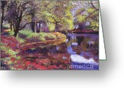 Most Greeting Cards - Reflections of Azalea Blooms Greeting Card by David Lloyd Glover