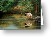 Ruth Gee Greeting Cards - Reflections of Gods Love Greeting Card by Ruth Gee