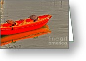 Paddles Greeting Cards - Reflections of Kayaking Greeting Card by Cheryl Young