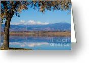 Meeker Greeting Cards - Reflections of Longs Peak  Greeting Card by James Bo Insogna