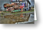Thelightscene Greeting Cards - Reflections Of The Past Greeting Card by Bob Christopher