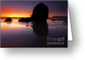 Sundown Greeting Cards - Reflections of the Tides Greeting Card by Mike  Dawson
