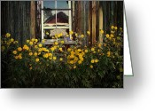 Barn Art Digital Art Greeting Cards - Reflections on Happiness Greeting Card by Lianne Schneider