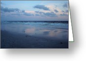 Panama City Beach Greeting Cards - Reflections Greeting Card by Sandy Keeton
