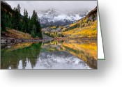 Autumn Colors Greeting Cards - Reflections Greeting Card by Tim Reaves