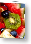 Kiwi Greeting Cards - Refreshing Greeting Card by Christopher Holmes