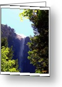 Merced County Greeting Cards - Refreshing The Soul - Bridalveil Yosemite Greeting Card by Glenn McCarthy Art and Photography