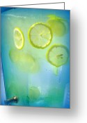 Summertime Drink Greeting Cards - Refreshment Greeting Card by Cindy Wright