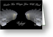 3d Digital Art Greeting Cards - Refuge Greeting Card by Cheryl Young