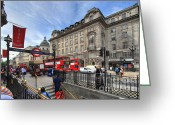 Busy City Greeting Cards - Regent Street - London Greeting Card by Yhun Suarez