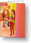 Fremont Street Greeting Cards - Rehearsal Greeting Card by Viktor Savchenko