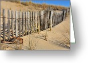 Sand Fences Photo Greeting Cards - Rehoboth Beach Greeting Card by JC Findley