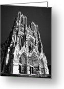 Coronation Greeting Cards - Reims Cathedral Greeting Card by Olivier Steiner