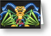 Color Reliefs Greeting Cards - Rein Greeting Card by Jason Amatangelo